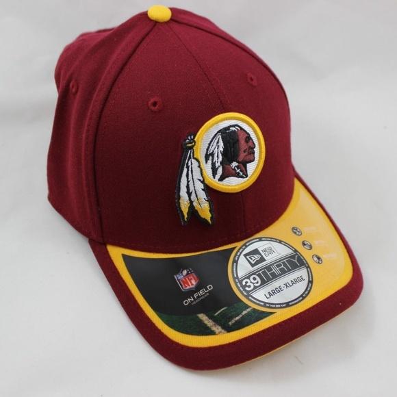 new product 0962d 12a26 New Era Washington Redskins On Field Cap - L XL